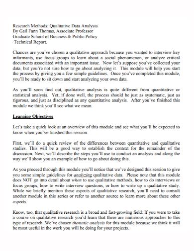 qualitative data analysis technical report