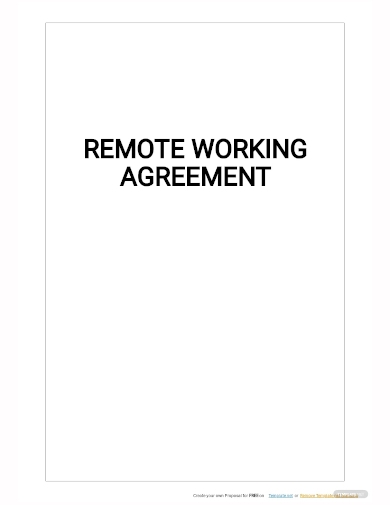 remote working agreement template