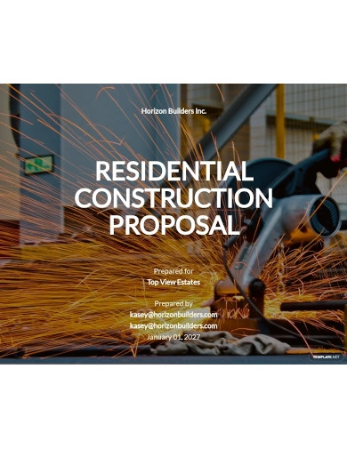 residential construction proposal