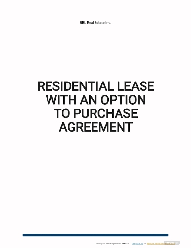residential lease with option to purchase agreement