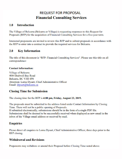 sample financial consulting proposal