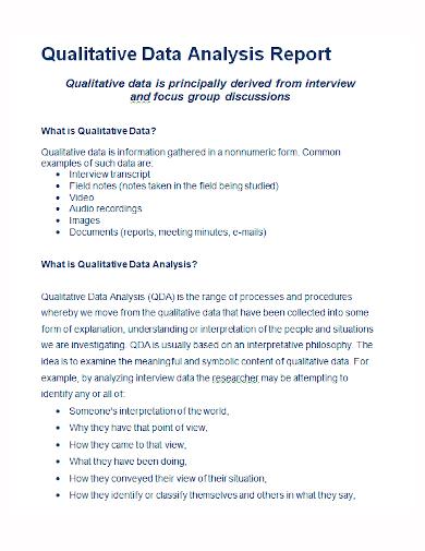 sample qualitative data analysis report