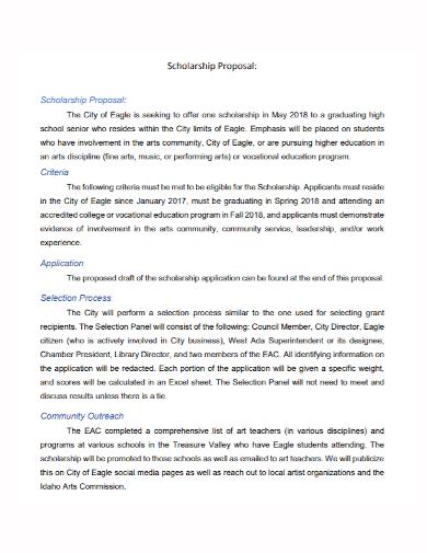 sample scholarship proposal