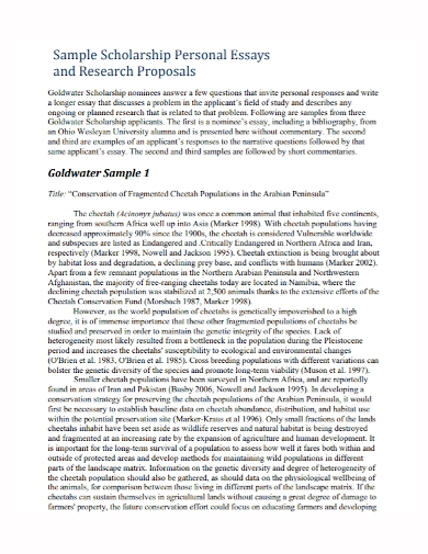 scholarship personal essay research proposal