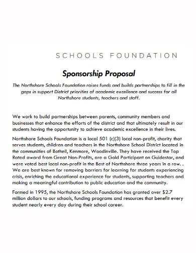school foundation sponsorship proposal