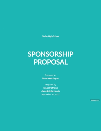 school sponsorship proposal template