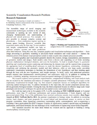 scientific research problem statement