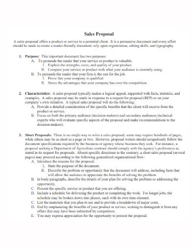 short sales proposal