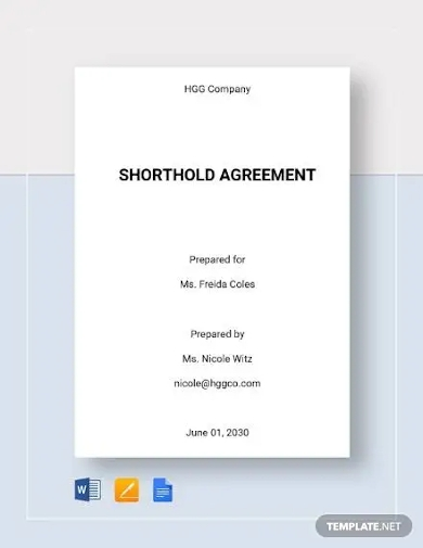 shorthold agreement template