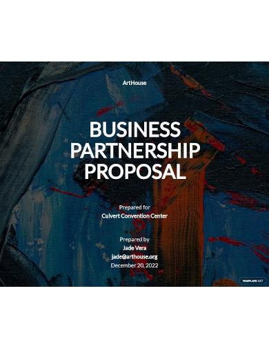 simple business partnership proposal
