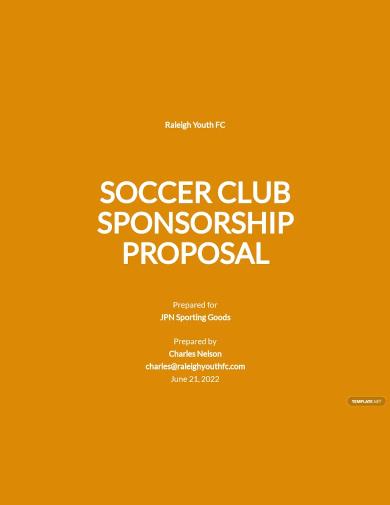 soccer club sponsorship proposal template