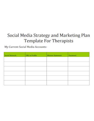 social media marketing therapist strategy plan