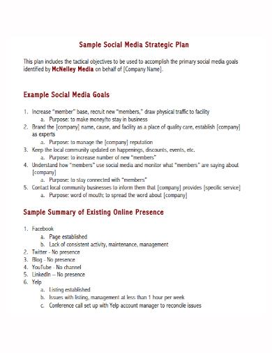 social media strategy goals plan