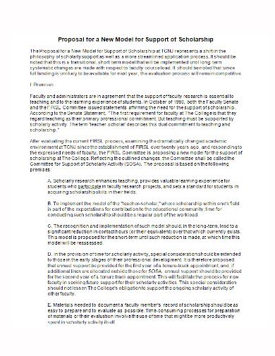 standard scholarship proposal