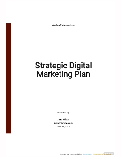 strategic digital marketing plan template