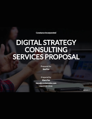 strategy consulting proposal template