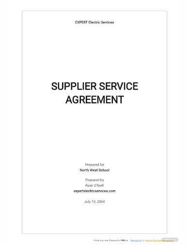 supplier service agreement template