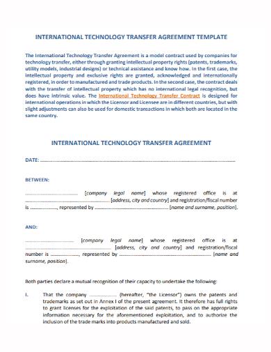 technology transfer agreement