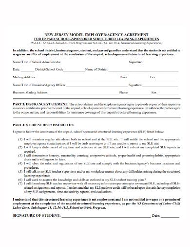 unpaid employment agency agreement