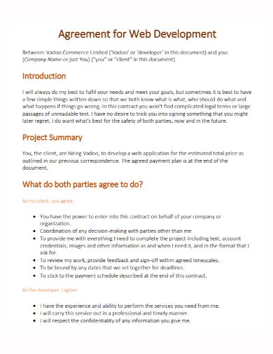web development agreement