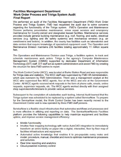 work order management final report
