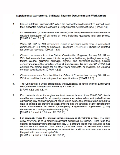 work order supplemental agreement