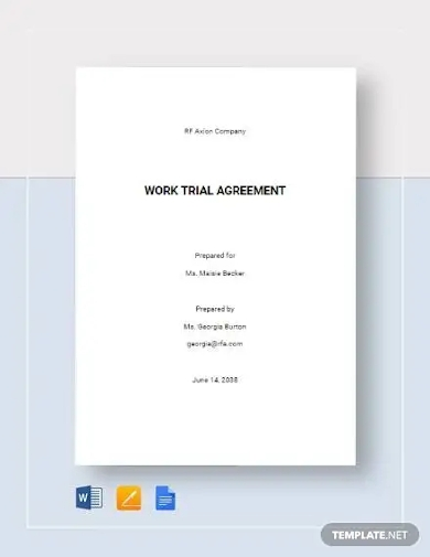 work trial agreement template