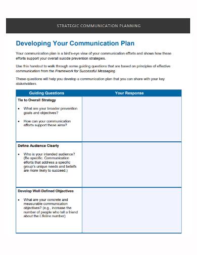 communication development strategic plan
