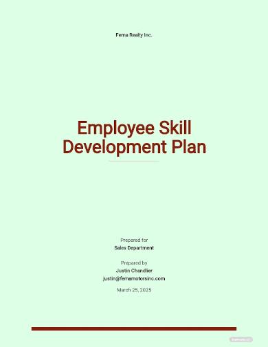 employee skill development plan template