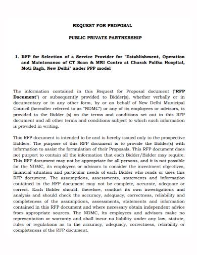 hospital maintenance partnership proposal