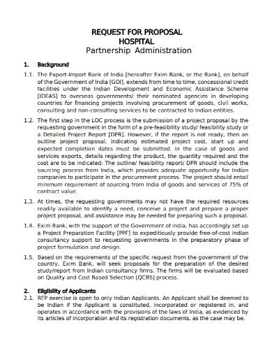 hospital partnership administration proposal