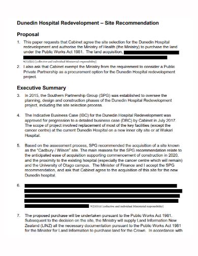 hospital recommendation partnership proposal