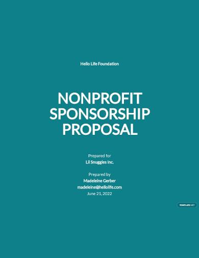 nonprofit sponsorship proposal template