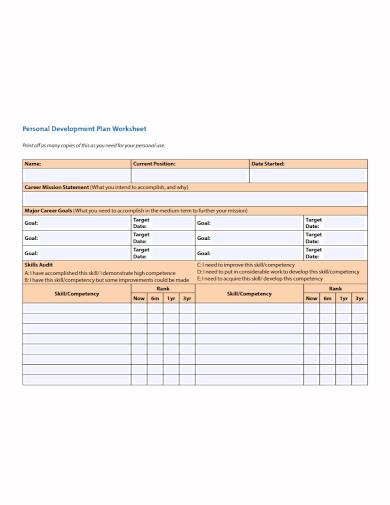 personal skills development plan