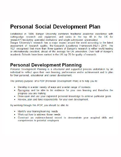 personal social development plan