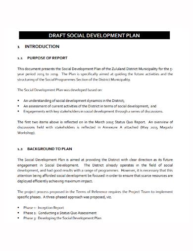 printable social development plan