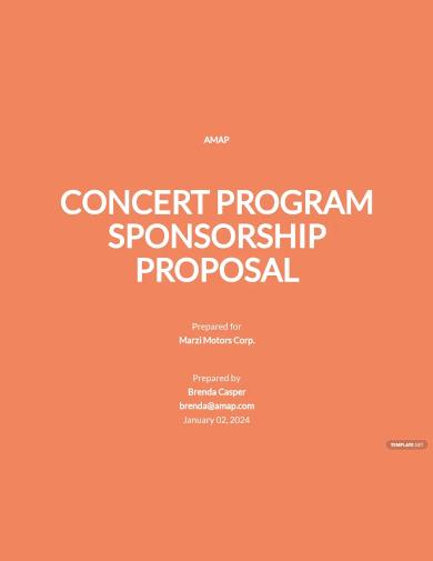 program sponsorship proposal template