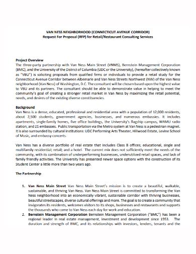 restaurant consulting partnership proposal
