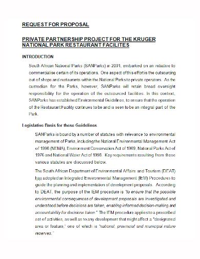 restaurant partnership project proposal
