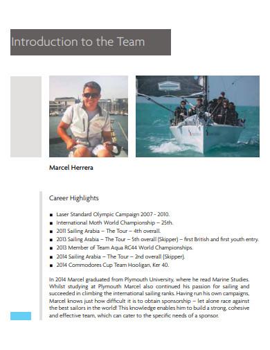 sailing team sponsorship proposal