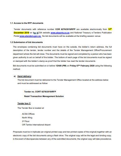 sample retail partnership proposal