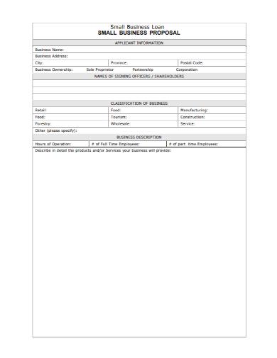 sample small business loan proposal