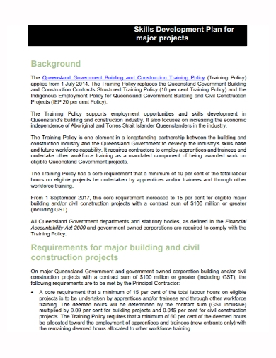 skills development project plan