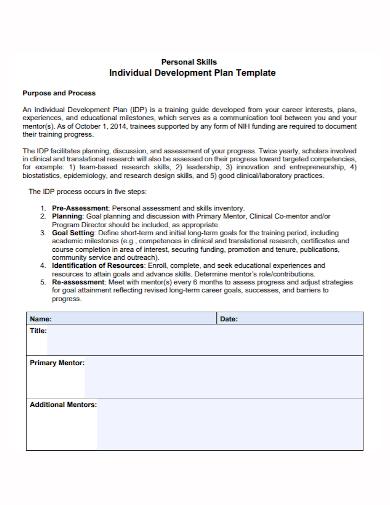 skills individual development plan