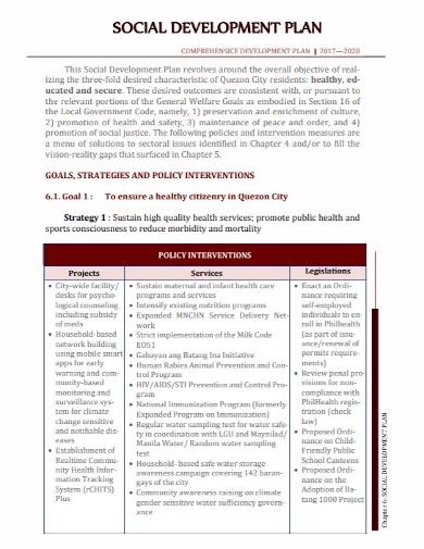 social development strategic plan