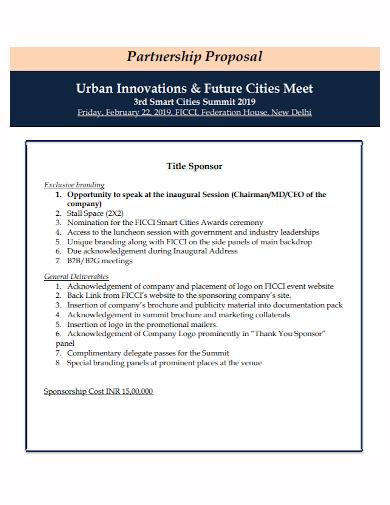 sponsorship cost partnership proposal