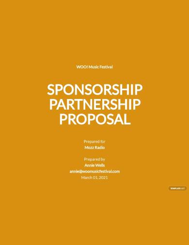 sponsorship partnership proposal template