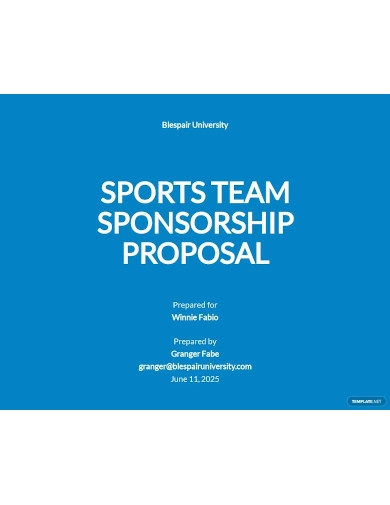 sports team sponsorship proposal