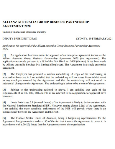 startup business partnership agreement example