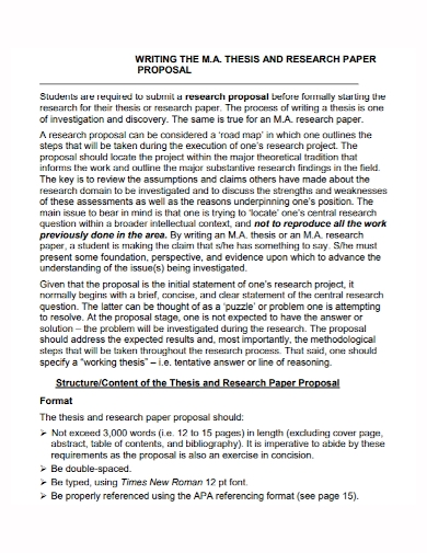 student thesis research proposal